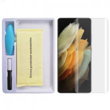 SM Galaxy S21 Ultra Full Uv Liquid+uv Işık 3DKırılmaz Cam Ekran Koruyucu