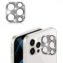 ALLY İPhone 12 Pro Kamera Koruyucu Lens Diamond Taş İşlemeli