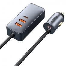 Baseus Share Together PPS 120W 4 Portlu (2 USB+2 Type-C) Hızlı Araç Şarjı 1.5m
