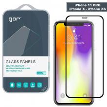 GOR iPhone 11 Pro - XS - X 5.8 9D Hardening Tempered Full Cam Ekran Koruyucu