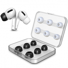 Airpods Pro İçin 6 Çift Silikon Yedek Kulaklık Ucu Gürültü Azaltma Kulak Tıkacı