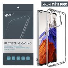 GOR Xiaomi Mi 11 Pro Kılıf Kamera Korumalı Şeffaf Silikon Kılıf