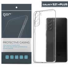 GOR Samsung Galaxy S21+ Plus Kılıf Kamera Korumalı Şeffaf Silikon Kılıf