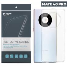 GOR Huawei Mate 40 Pro Kılıf Kamera Korumalı Şeffaf Silikon Kılıf
