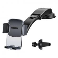 Baseus 2 in1 Torpido Üstü ve Havalandırma Araç içi Telefon Tutucu