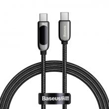 Baseus 100W Dijital Göstergeli Type-C to Type-C Hızlı Şarj Kablosu 2m