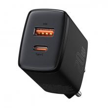 Baseus Compact 20W USB + TYPE-C Çıkışlı QC3.0 Hızlı Şarj Başlığı Şarj Aleti