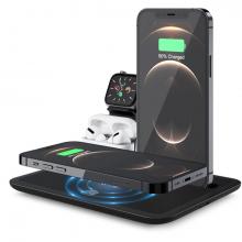 ALLY 4 in1 15W Kablosuz Hızlı Şarj Standı İPhone+İwatch+AirPods Pro Wireless