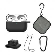 ALLY 5 in 1 Airpods Pro Kulaklık Kılıfı ve Kulaklık Koruma Çantası Full Set
