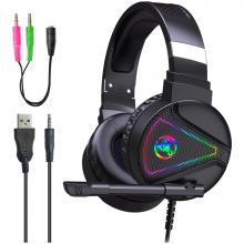 Hxsj F16 Rgb Işık Mikrofonlu Kulaküstü Oyuncu Kulaklığı
