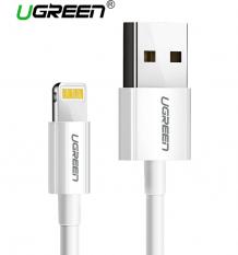 UGREEN İPHONE 5.6.7.8.X MFİ LİSANSLI 2.4A 1M USB DATA ŞARJ KABLOSU