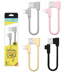 Ally İphone Lightning Eğik Başlı Halat Usb Kablo 20cm
