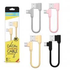 ALLY MİCRO USB EĞİK BAŞLI HALAT USB KABLO 0,20CM KISA KABLO