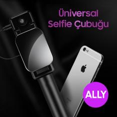 Ally Universal İOS Android Aynalı Tuşlu Selfie Çubuğu