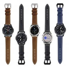 22MM Gear S3 Watch 4 -GT2 GT2E 46MM Kayış,Kordon Koyu Deri Kordon Kayış