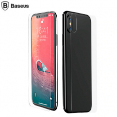 BASEUS İPHONE XS MAX 6.5 ÖN ARKA FULL KAPLAMA ŞEFFAF KIRILMAZ CAM KORUYUCU 0.3MM