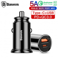 Baseus Circular Plastic A+C 30W PPS Hızlı Araç Şarjı  CCALL-YS01