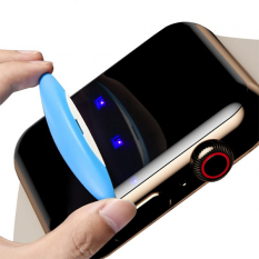 Ally İWatch 4 44MM Full Uv Liquid+uv Işık 3D Kırılmaz Cam Koruyucu