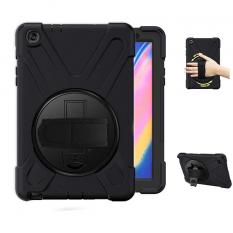 Ally Galaxy Tab A 8 (2019) P200-P205 3 Katmanlı Standlı Zırh Kılıf-Shockproof