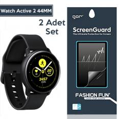 Gor Samsung Watch Active 2 44MM Darbe Emici Ekran Koruyucu 2 Adet Set