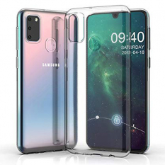 Ally Samsung Galaxy M30S Kamera Korumalı Fit Şeffaf Silikon Kılıf