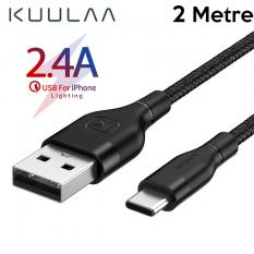 KUULAA-Kfl İPhone 11, XS XR 8-7 Lightning Usb Şarj Kablosu 2Metre