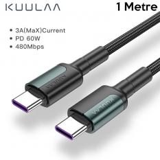 KUULA Type C Type-C PD 60W QC4.0 Hızlı Şarj ve Data Kablosu 1Metre