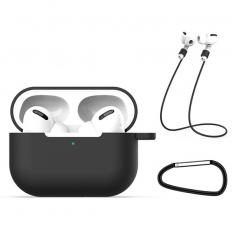 ALLY Apple Airpods Pro İçin Kılıf+Kulaklık Askısı+Anahtarlık