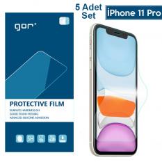 GOR İPhone 11 Pro 5.8 HD Ekran Koruyucu Jelatin 5 Adet Set