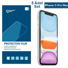 GOR İPhone 11 Pro Max 6.7 HD Ekran Koruyucu Jelatin 5 Adet Set