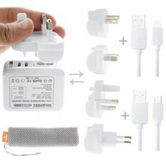 Haweel Universal Seyahat Şarj Adeptör İPhone Ve 1 Mikro Usb Şarj Kablosu Set