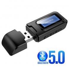 ALLY 2in1 Bluetooth 5.0 Mini USB Adaptör+Fm Transmitter Lcd Ekranlı