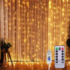 ALLY Peri Telli Perde LED Işık 3x3 metre 300 Ledli  Kumandalı Usb`li 8 Animasyonlu
