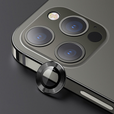 USAMS İphone 12 Pro Max 3D Metal Çerçeveli Kamera Lens Koruyucu