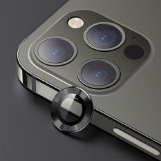 USAMS İphone 12 Pro 3D Metal Çerçeveli Kamera Lens Koruyucu