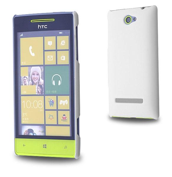 HTC WİNDOWS PHONE 8S SERT PLASTİK KILIF BEYAZ