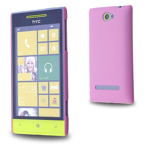 HTC WİNDOWS PHONE 8S SERT PLASTİK KILIF PEMBE