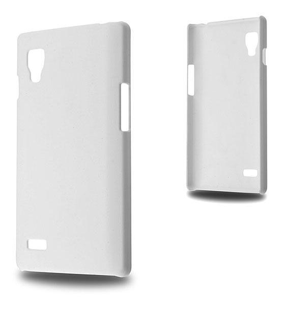LG OPTİMUS L9 P760 SERT PLASTİK KILIF BEYAZ