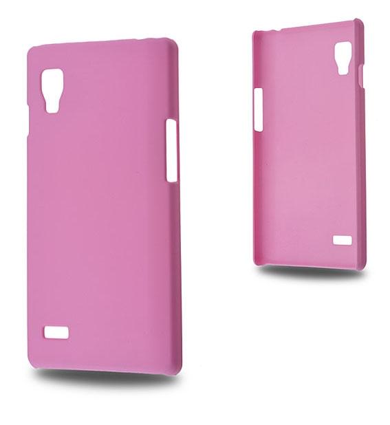 LG OPTİMUS L9 P760 SERT PLASTİK KILIF PEMBE
