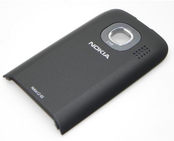 NOKIA C2-03 ORJİNAL ARKA/PİL KAPAK