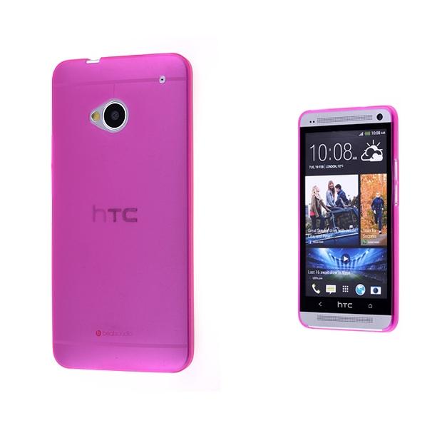 HTC ONE M7 TPU TRANSPARAN KILIF FUŞYA