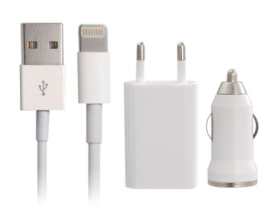 ALLY 3İN 1 İPHONE 6 VE 6PLUS VE 5S VE 5C UYUMLU USB ARAÇ VE ŞARJ BAŞLIK